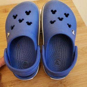 "Crocs ""Mickey"" blue shoes"
